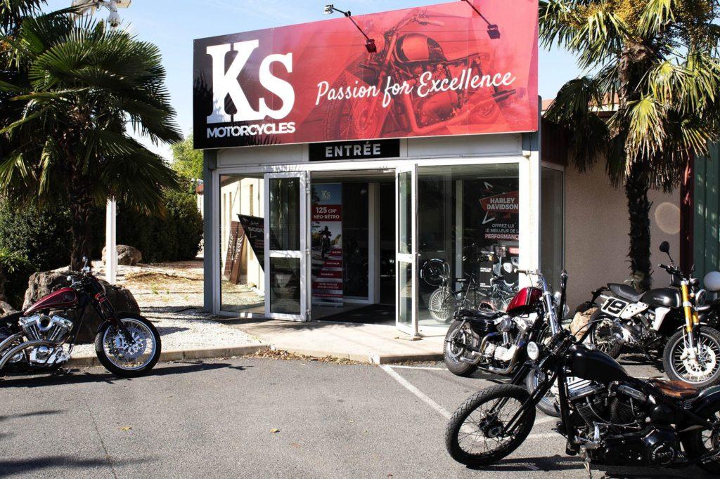 photo de l'entrée de KS Motorcycles 69480 Amberieux Azergues
