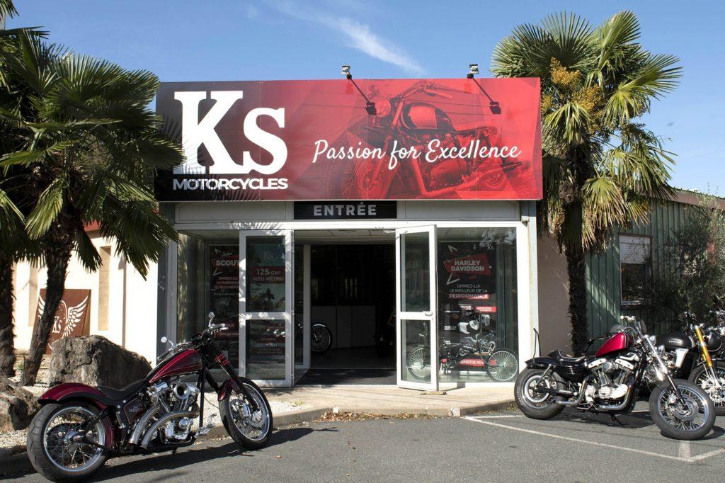 photo facade pour visite virtuelle KS Motorcycles 69480 Amberieux