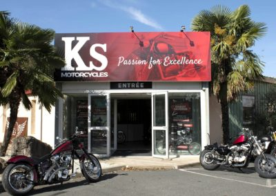 Visite virtuelle du magasin de motos KS Motorcycle à Ambérieux 69480